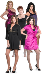Clockwise from top left, Dina Manzo, Caroline Manzo, Teresa Giudice, Jacqueline Laurita and Danielle Staub./Bravo