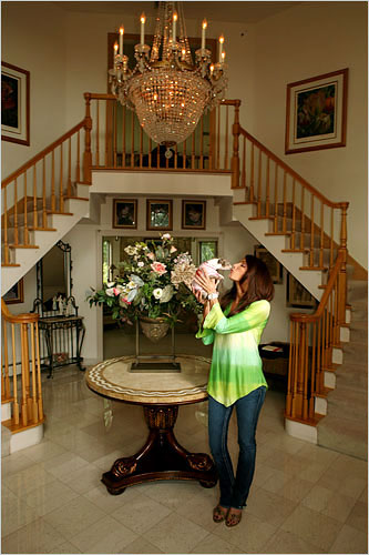 Danielle Staub in her elegant - though admittedly slightly dated - Franklin Lakes home./Credit The New York Times