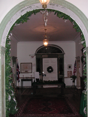 Note the orbs in this photo, taken inside Perth Amboy's Proprietary House, the former home of the royal governor of New Jersey, in January 2008./Photo by Ava Gacser