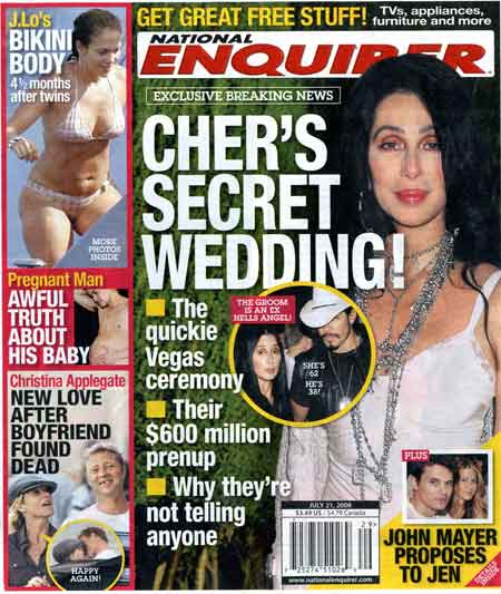 Are Cher and Tim Medvetz dating, or are they already married?/Credit National Enquirer