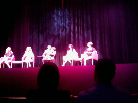 Jill Zarin, from left, Alex McCord, host Gino Bisconte, Teresa Giudice and Caroline Manzo. Sorry for the crappy picture, but it's the best I could do with my cell phone. If anyone has better images, please email me at ava@avagacser.com. I will gladly give you credit for them.