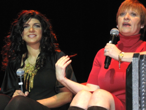 Teresa Giudice and Caroline Manzo small